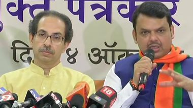 Maharashtra Assembly Elections 2019: BJP, Shiv Sena Finalise Seat-Sharing Deal, Leave 14 Seats For Smaller Allies