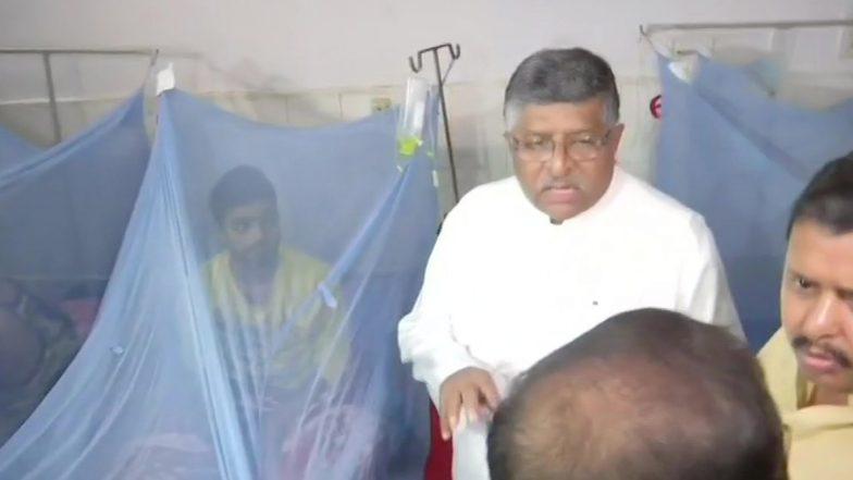 Dengue Scare in Bihar: Ravi Shankar Prasad Meets Affected Patients in Hospital After Outbreak Post Floods