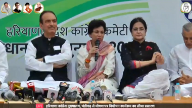 Haryana Assembly Elections 2019: Congress Releases Manifesto Woo Voters, Promises Farm Loan Waiver and Unemployment Allowance
