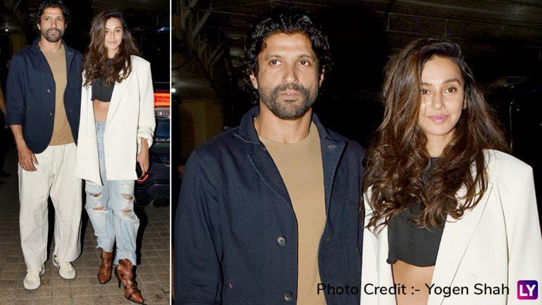 The Sky Is Pink Screening: Farhan Akhtar and Girlfriend Shibani Dandekar Arrive in Style (See Pics)