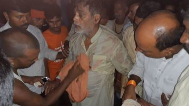 Bihar Floods: BJP MP Ram Kripal Yadav Falls into River While Visiting Affected Area As Makeshift Boat Capsizes, Watch Video