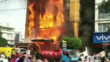 Indore: Fire Breaks Out at Golden Gate Hotel in Madhya Pradesh, Rescue Operation On