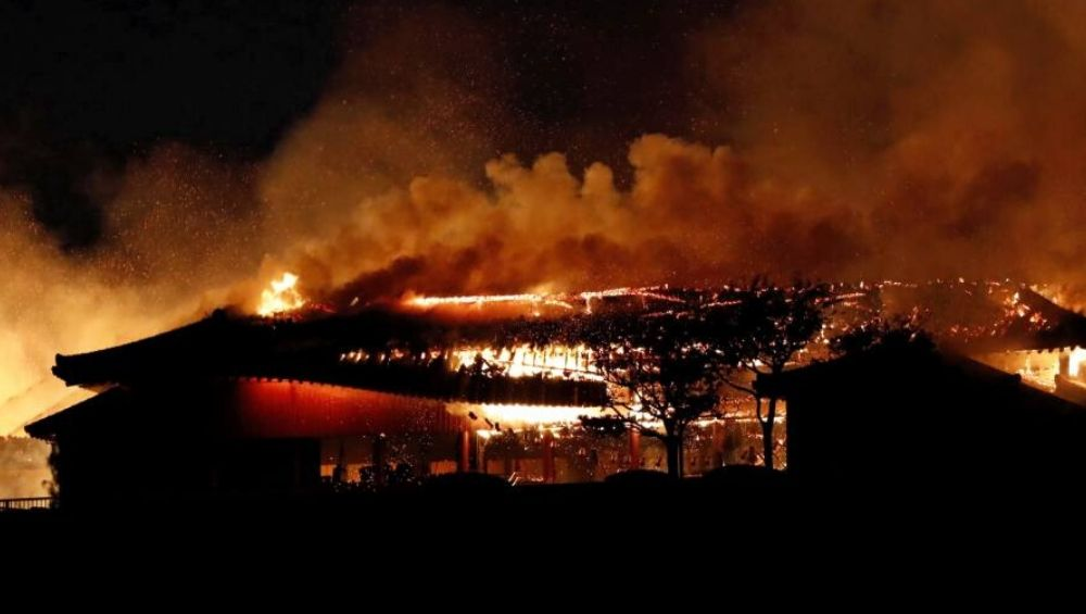 Shuri Castle Fire in Japan: Raging Fire Engulfs Okhinawa's Historic Castle, Ancient World Heritage Site Burns Down