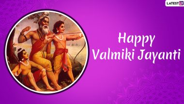 Happy Valmiki Jayanti 2019 Greetings: WhatsApp Stickers, Facebook Photos, GIF Images, Maharishi Valmik Quotes, SMS And Messages to Wish Pargat Diwas
