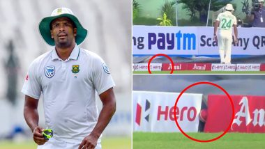 Vernon Philander Unable to Find Ball Wedged Between Boundary Lines During IND vs SA 1st Test 2019 Makes Twitterati ROFL! (Watch Hilarious Video)
