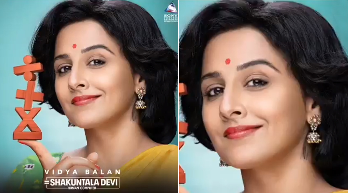 Shakuntala Devi Motion Poster: Vidya Balan as the Human Computer Brings 'Maths' and 'Fun' in The Same Sentence!