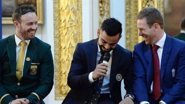 Virat Kohli Posts Throwback Picture With Rivals AB de Villiers and Eoin Morgan, Says 'Play Hard on The Field, But Be Up For a Laugh Off it'