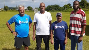 WV Raman Shares Photo With Narendra Hirwani; West Indies Cricket Legends Courtney Walsh and Curtly Ambrose, India Women Coach's Funny Caption Makes Netizens Laugh