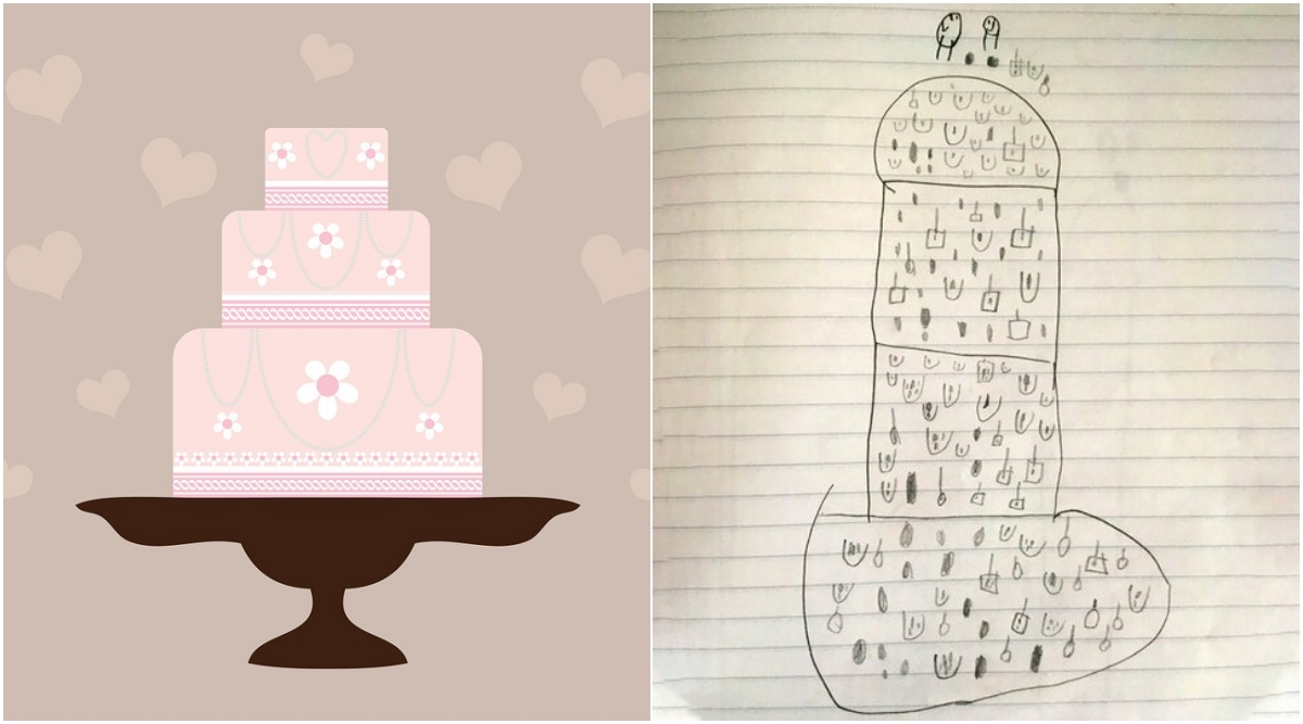 Little Boy's Drawing of a Wedding Cake Ends Up Looking Like a Penis! (View Pic)
