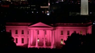 Breast Cancer Awareness Month 2019: White House Lit Up in Pink to Raise Awareness About The Disease (Watch Video)