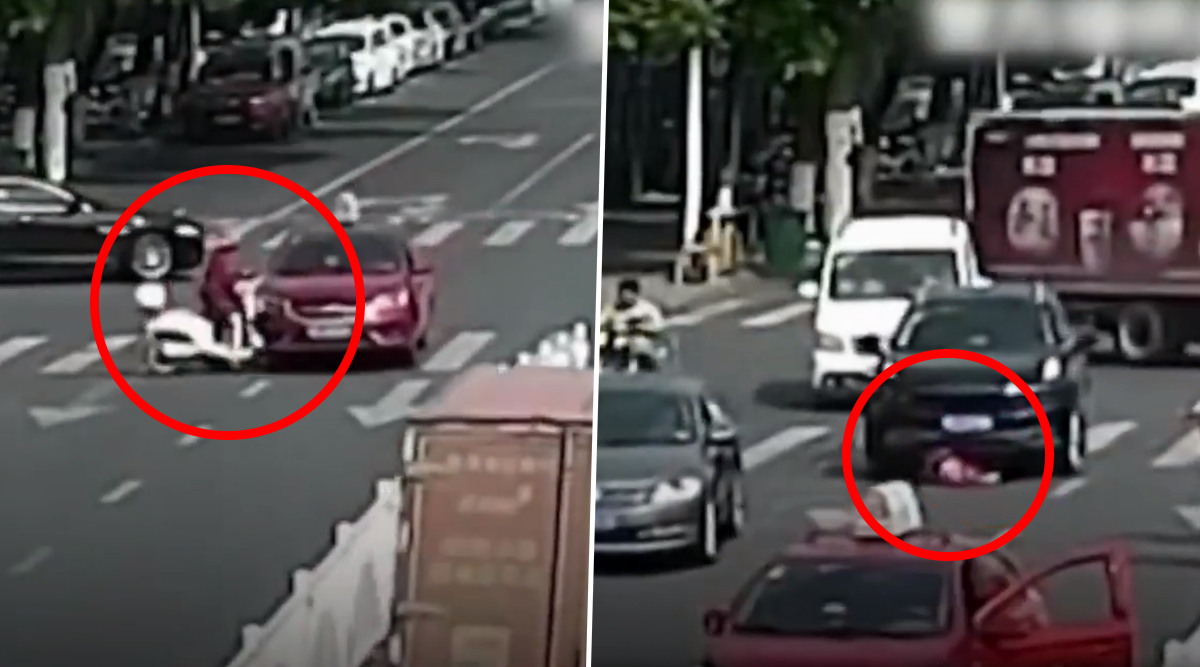 Woman Miraculously Survives After Being Knocked Down And Run Over by a Car in China (Watch Video)