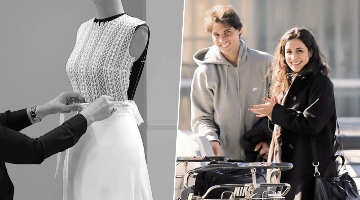 Rafael Nadal S Wife To Be Xisca Perello S Wedding Gown Made By Rosa Clara Is Making Us Want To Buy A Wedding Dress For No Reason Watch Video Latestly