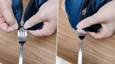 Broken Zipper? Viral Video Shows a Simple Trick to Fix Your Zip in Few Seconds!