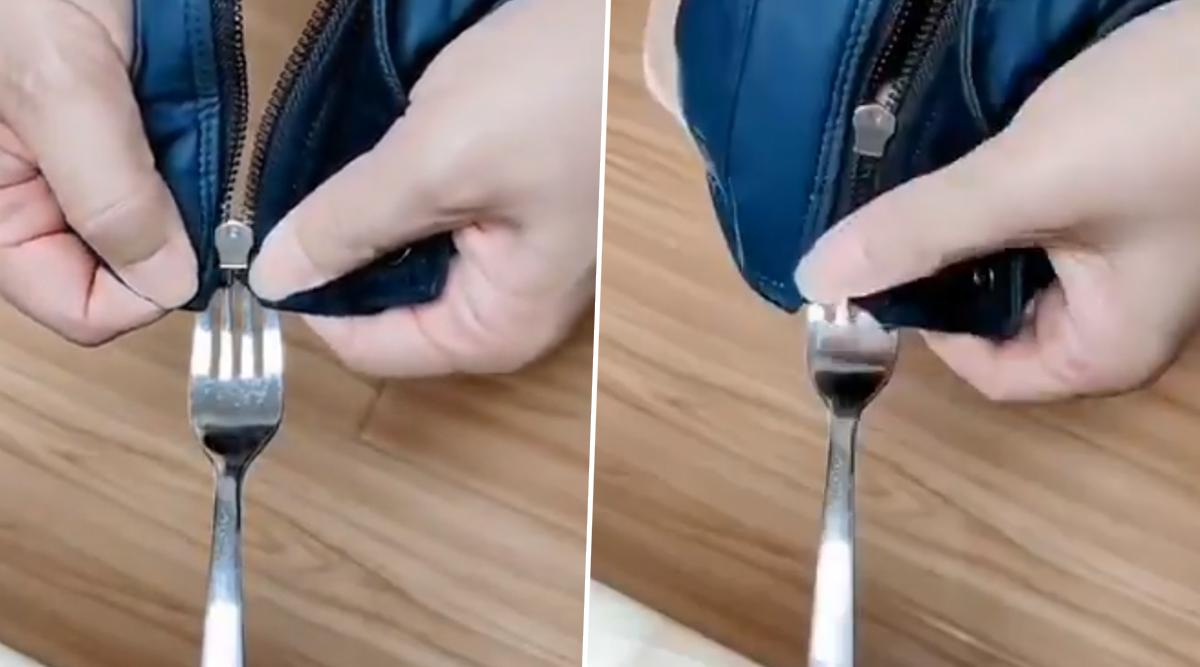 Broken Zipper? Viral Video Shows a Simple Trick to Fix Your Zip in Few Seconds!