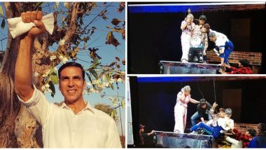 Akshay Kumar Rescues an Artist Who Falls Unconscious During A Stunt, Watch Video of The Star's Selfless Act!