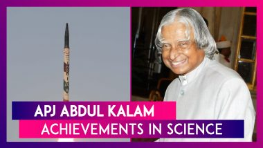 APJ Abdul Kalam 88th Birth Anniversary: The Former Indian Prez's Achievements In Science