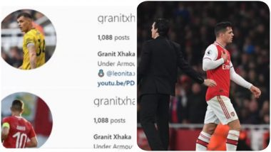 Granit Xhaka Removes Instagram DP With Arsenal Jersey After Row With Fans