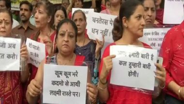 On Dhanteras, Scam-hit Women Depositors of PMC Bank Hold Protest in Mumbai