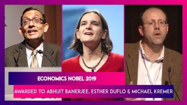 Nobel Prize for Economic Sciences 2019 Awarded to Abhijit Banerjee, Esther Duflo and Michael Kremer