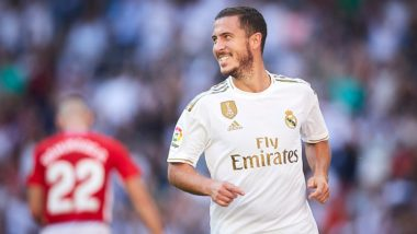 Eden Hazard Nets his First Goal for Real Madrid During Their La Liga 2019 Game Against Granada (Watch Videos)