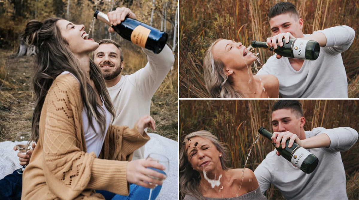 Illinois Couple Goes Viral After Their Pinterest-Inspired Engagement Photoshoot Fails! View Funny Pics