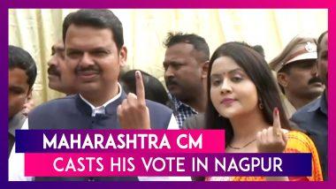 Maharashtra Assembly Elections 2019: Devendra Fadnavis, Wife Amruta Cast Vote In Nagpur