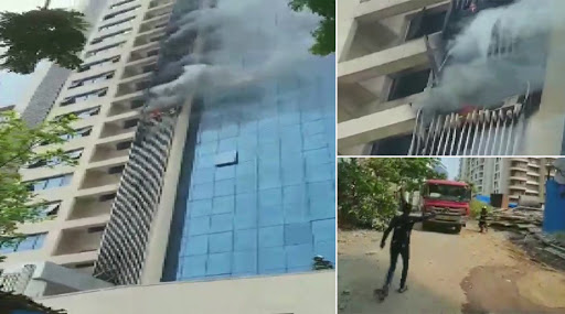 Mumbai: Fire Breaks Out at Commercial Building in Andheri, 4 Fire Tenders at Spot