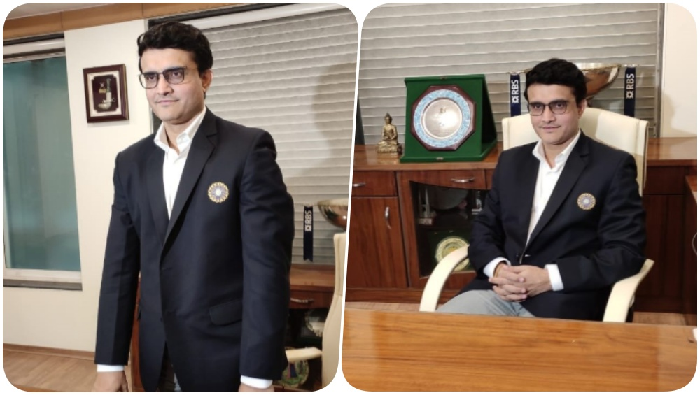Sourav Ganguly Dons India Blazer as he Becomes the 39th President of the BCCI (Watch Video)