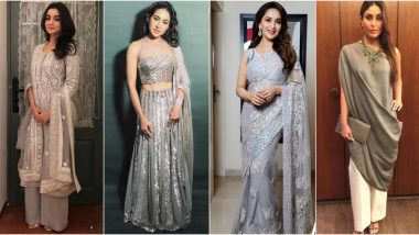 Navaratri 2019 Day 7 Colour Grey: Take Cues from Alia Bhatt, Sara Ali Khan and Others on How to Make This Dull Shade Look Festive and Fun (View Pics)