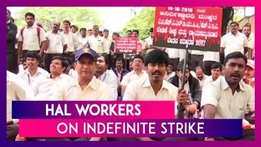 HAL Workers Begin Countrywide Indefinite Strike Over Wage Revision