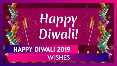 Diwali 2019 HD Images to Send Greetings in Advance: Best WhatsApp Stickers, Hike Messages, Deepavali GIF Photos and Wallpapers For Free Download to Send Wishes Online