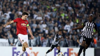 Harry Maguire Floored by Seydouba Soumah During Manchester United vs Partizan, Europa League 2019; Fans Troll the Most Expensive Defender