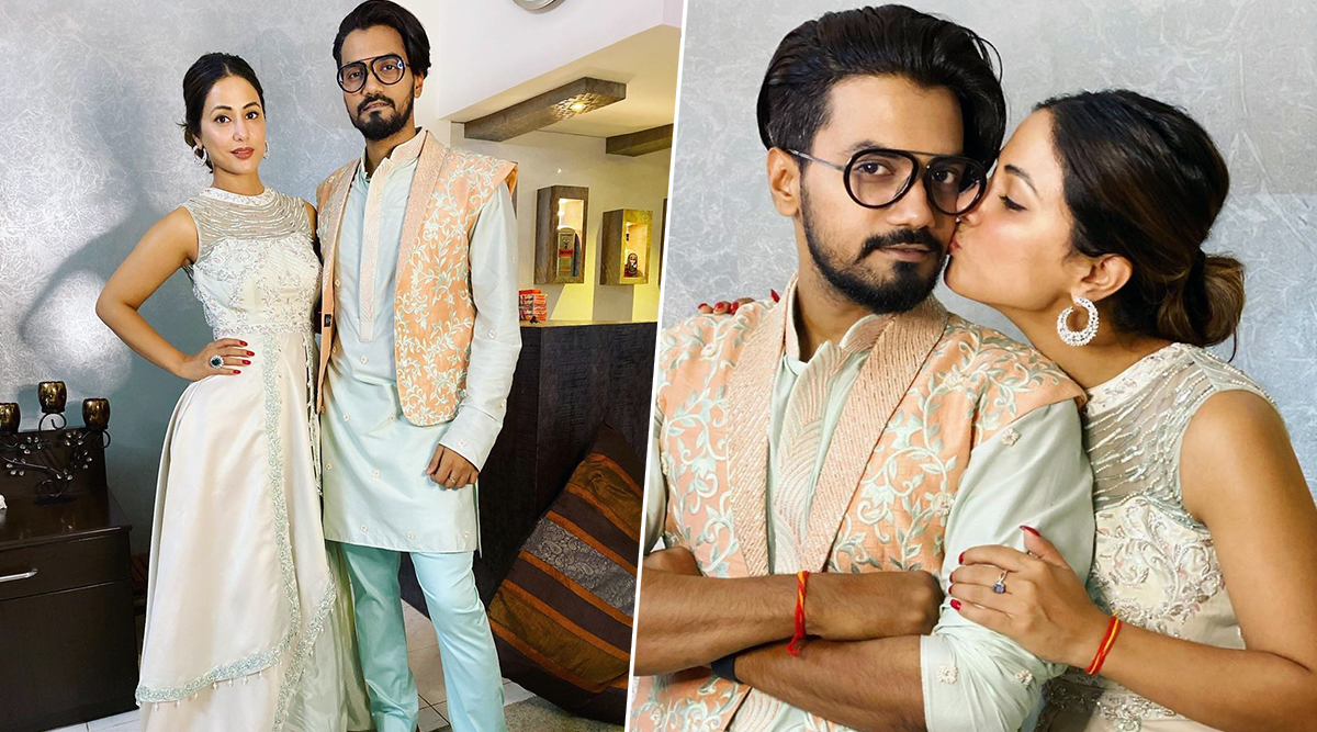 Hina Khan and Rocky Jaiswal Set Couple Goals in These Loved Up Pictures