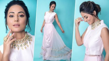 Hina Khan Is a Vision in White as She Poses for the Camera (View Pics)