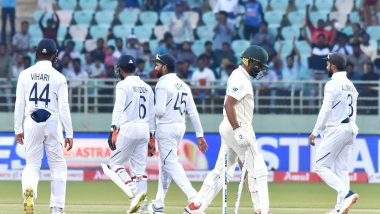 India vs South Africa, 1st Test 2019, Day 3: Faf du Plessis and Dean Elgar Put up A Fighting Partnership to Propel Visitors to 153/4