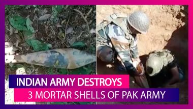 Indian Army Destroys Three Mortar Shells Of Pakistan Army In Jammu & Kashmir