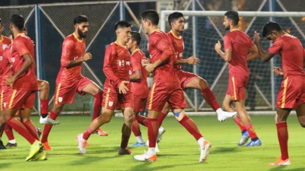 Gurpreet Singh Sandhu & Men Sweat it Out Ahead of India vs Bangladesh, 2022 FIFA World Cup Qualifiers (See Pics)