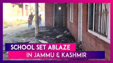 Jammu & Kashmir: School Set Ablaze In Kulgam