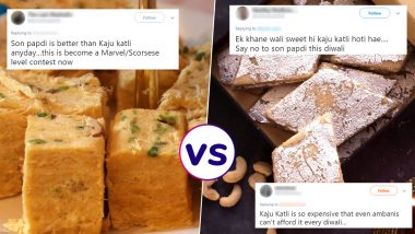 Soan Papdi vs Kaju Katli: Internet Battle Over 'The Better Sweet' for Diwali Continues, Check Funny Tweets and Memes