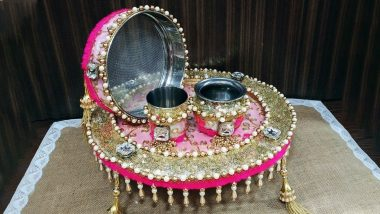 Karwa Chauth 2019 Thali Decoration Ideas: How to Decorate Thali, Chalni and Karva; Know Traditional Items Required for Karva Chauth Vrat