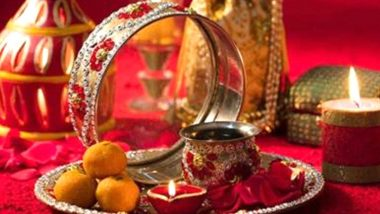 Karwa Chauth 2019 Puja Samagri: List of Items Required for the Karva Chauth Vrat Thali to Celebrate the Auspicious Festival