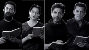 150 Years Of Celebrating The Mahatma: Shah Rukh Khan, Salman Khan, Aamir Khan, Kangana Ranaut and Other Celebs Recite Bapu's Important Teachings (Watch Video)
