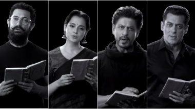 150 Years Of Celebrating The Mahatma: Shah Rukh Khan, Salman Khan, Aamir Khan, Kangana Ranaut and Other Celebs Recite Bapu's Important Teachings (Watch Video)