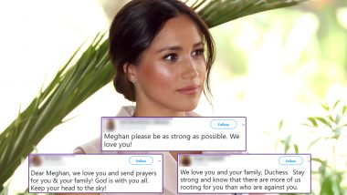 Meghan Markle Holds Back Tears in an Emotional Interview, Fans Pour Support for Duchess of Sussex With #WeLoveYouMeghan! Watch Video