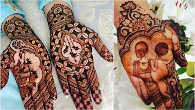 Karwa Chauth 2019 Mehndi Designs: Watch Video Tutorials to Apply Arabic Mehandi & Indian Henna Patterns on Hands for Karva Chauth Vrat!