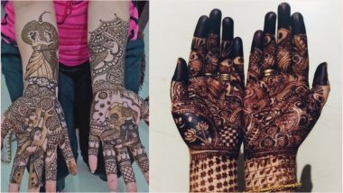 Karwa Chauth 2019 Mehndi Design Image Flood Twitter! Women Observing Karva Chauth Vrat Share Beautiful Pics of Indian Henna Patterns Online