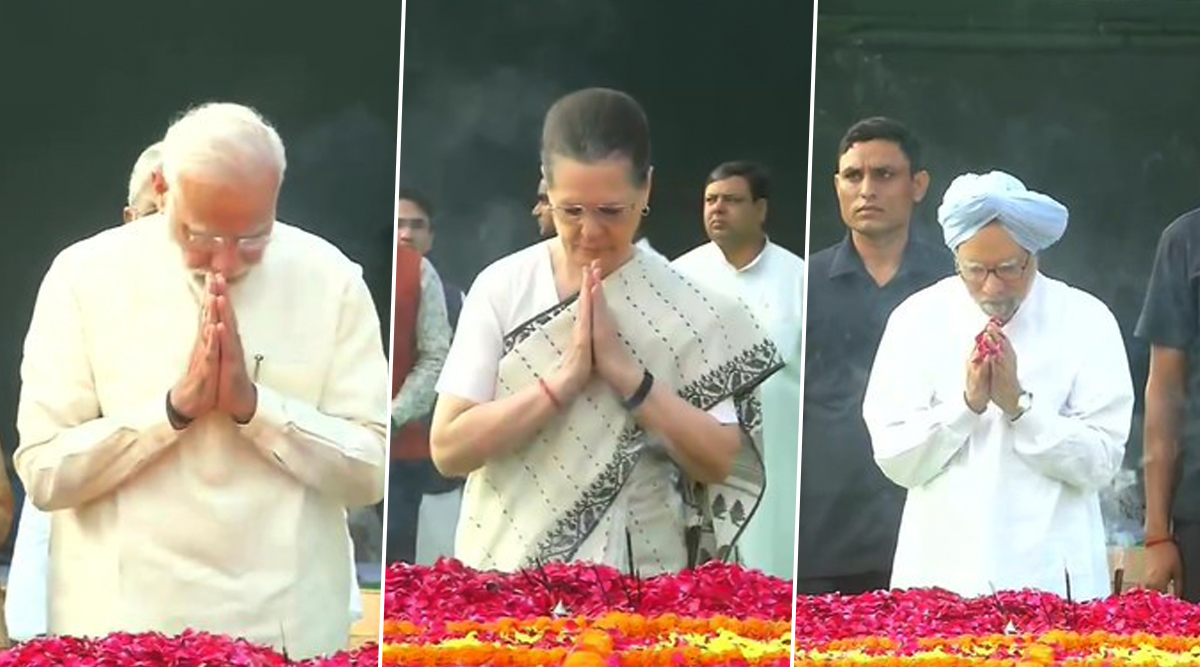 Lal Bahadur Shastri Jayanti 2019: PM Narendra Modi, Sonia Gandhi, Manmohan Singh and Other Leaders Pay Tribute to Former Prime Minister of India at Vijay Ghat