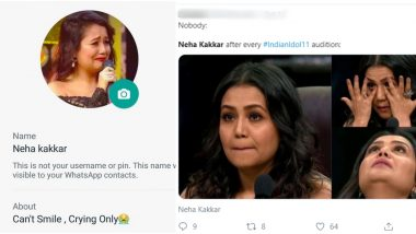 Neha Kakkar's Crying Photos From Indian Idol Episodes Make People Laugh! Funny Memes on Singer-Cum-Judge's Emotional Outburst Trend on Social Media