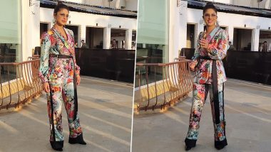 Priyanka Chopra's Floral Pantsuit for The Sky Is Pink Promotions Screams Quirky! (See Pics)