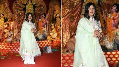 Priyanka Chopra Looks Radiant in White as she Celebrates Durga Ashtami in the City - View Pics